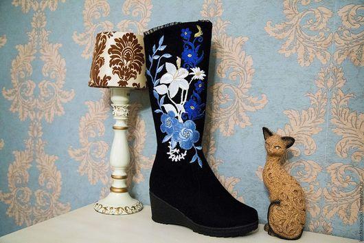 """Обувь ручной работы. Ярмарка Мастеров - ручная работа. Купить Валенки """"Морозко"""". Handmade. Сапоги, валенки на подошве, национальные узоры"""