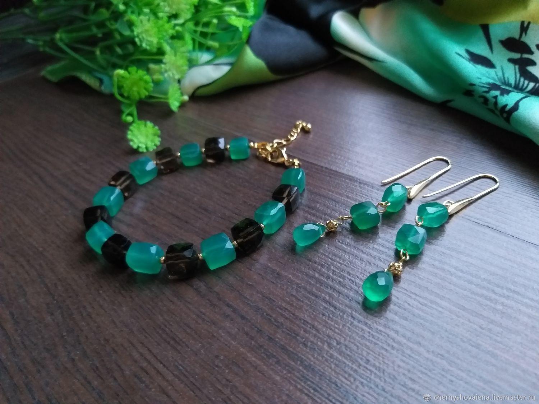 Bracelet made of chrysoprase, Bead bracelet, Moscow,  Фото №1