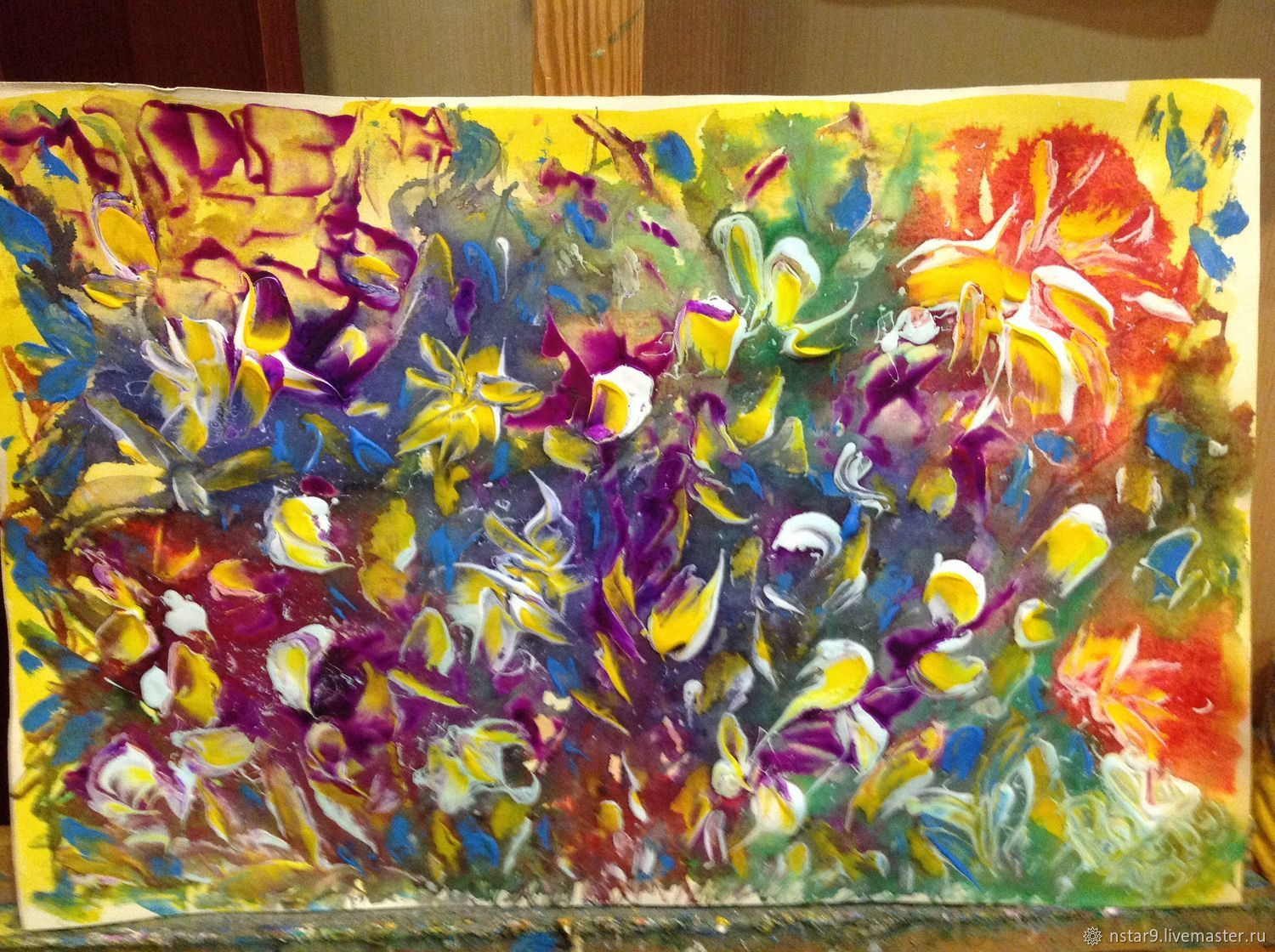 Abstract Art Handmade Livemaster Bright Colours