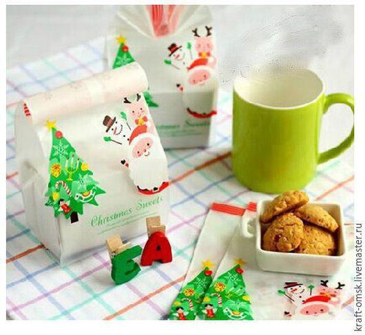 """Упаковка ручной работы. Ярмарка Мастеров - ручная работа. Купить Пакетики """"Merry Christmas-3"""" 10х25см. Handmade. Крафт"""