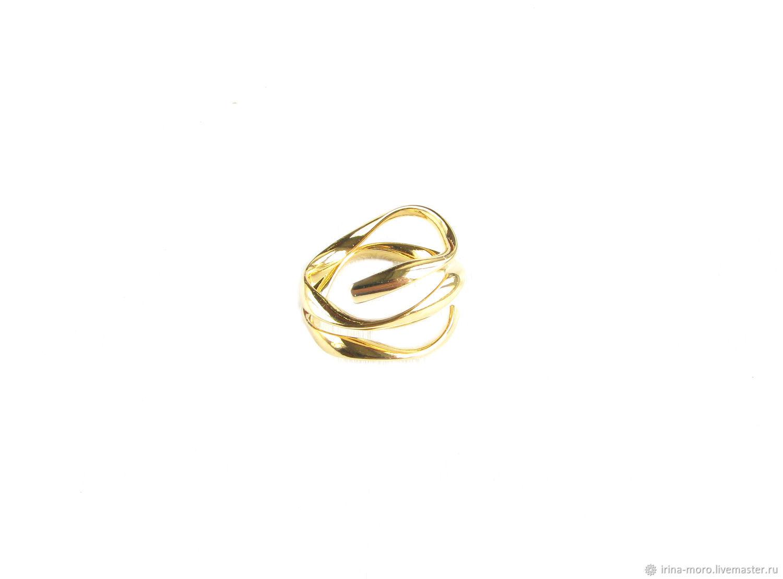 Золотое кольцо спираль, кольцо в виде спирали,стильное кольцо, Кольца, Москва,  Фото №1