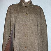 Одежда ручной работы. Ярмарка Мастеров - ручная работа Кейп  из твида (---10%), размер 48-52. Handmade.