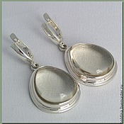 Серьги серебряные с цитрином