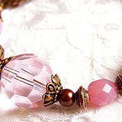 """Украшения ручной работы. Ярмарка Мастеров - ручная работа """"Розовый"""" комплект. Handmade."""