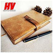 Канцелярские товары handmade. Livemaster - original item Cover for a diary or a book made of genuine leather. Handmade.