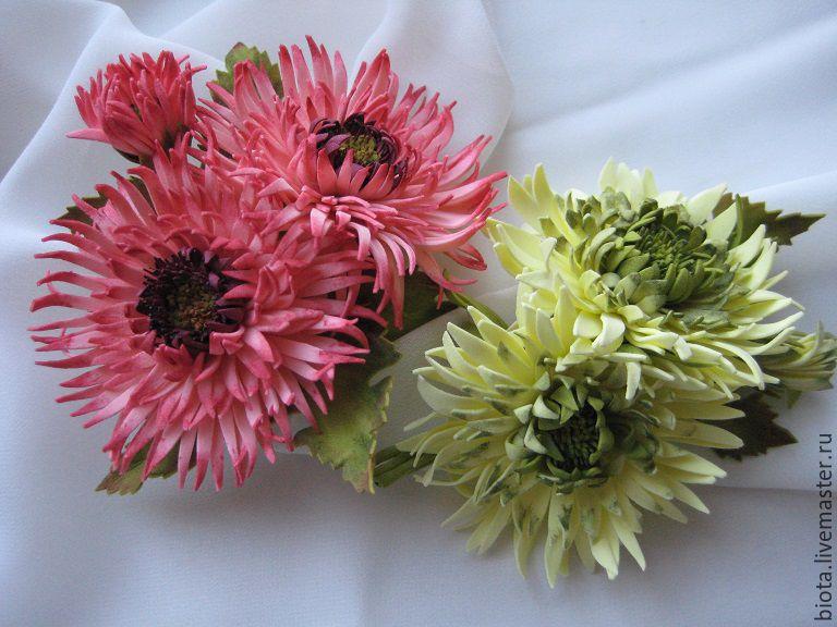Цветы из фоамирана Хризантема Мастер-класс с