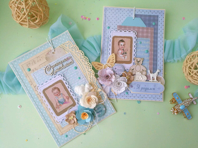 Как сделать открытку С новорожденным своими руками? 65