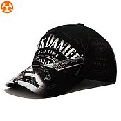 Аксессуары handmade. Livemaster - original item Jack Daniel`s printed baseball Cap. Handmade.