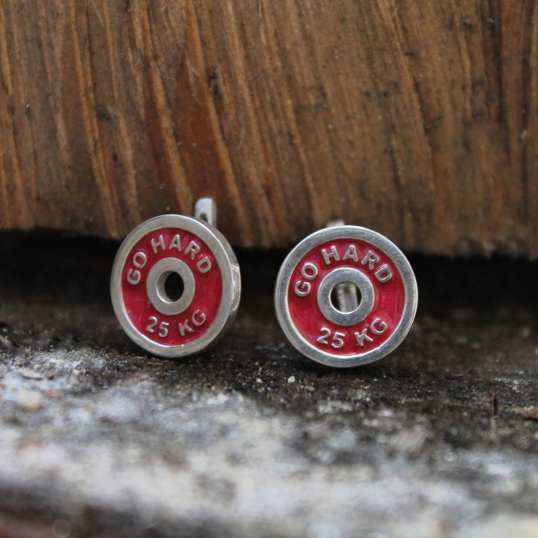 Pancakes, earrings in sterling silver with enamel, Earrings, Tver,  Фото №1