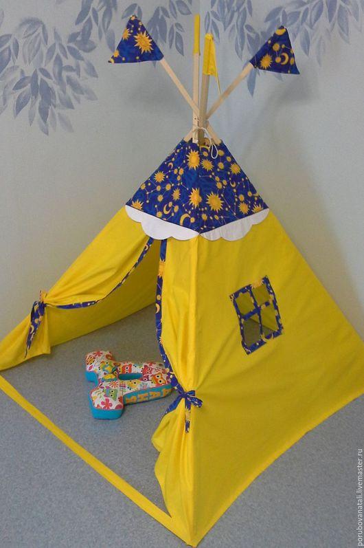 Детские аксессуары ручной работы. Ярмарка Мастеров - ручная работа. Купить вигвам детский. Handmade. Комбинированный, желтый, для дома и интерьера