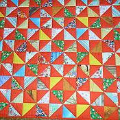 """Для дома и интерьера ручной работы. Ярмарка Мастеров - ручная работа Лоскутное одеяло """"Деревенское"""". Handmade."""