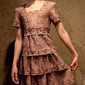Одежда ручной работы. Ярмарка Мастеров - ручная работа Детское платье из кружева. Handmade.