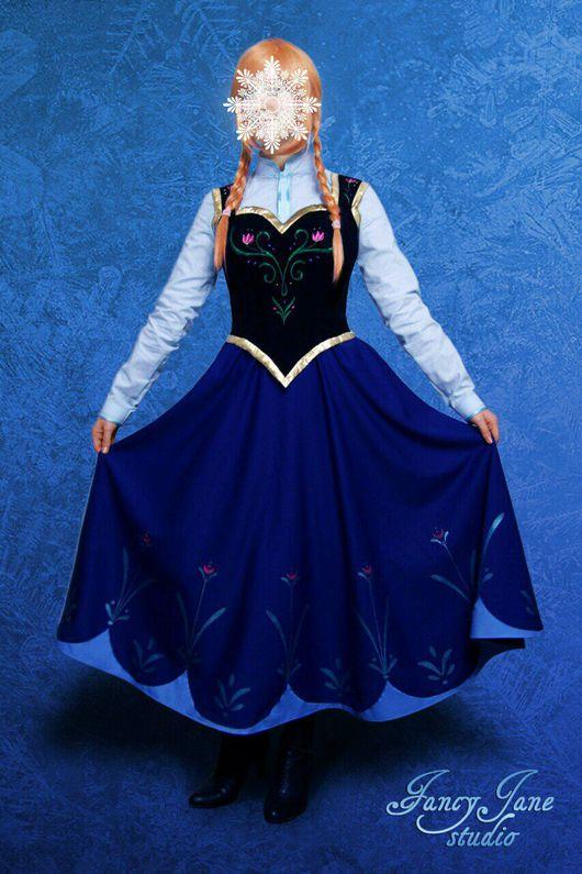 Карнавальные костюмы ручной работы. Ярмарка Мастеров - ручная работа. Купить Косплей костюмы Анна (Холодное сердце), Ледяной Джек (Хранители снов). Handmade.