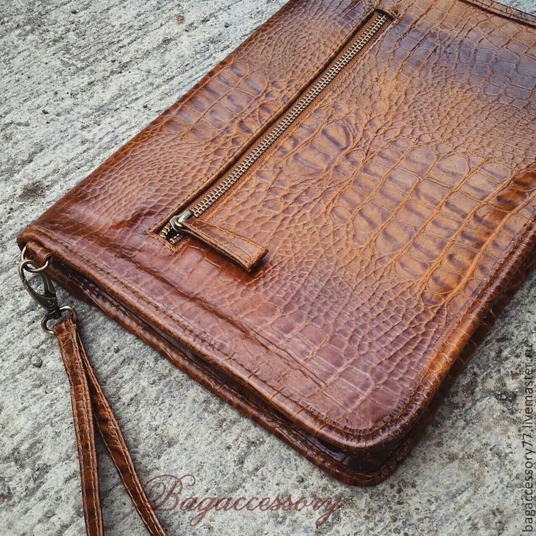 Барсетка из натуральной кожи – купить в интернет-магазине на Ярмарке ... 91953c5abcb9e