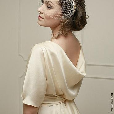 Свадебный салон ручной работы. Ярмарка Мастеров - ручная работа Кремовое свадебное платье, рустик, богемное, винтажное. Handmade.