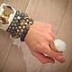 Кольца ручной работы. Заказать Кольцо друза в позолоте. 7 Beads Jewellery. Ярмарка Мастеров. Фиолетовый, друза, друза аметиста