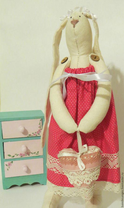 Куклы Тильды ручной работы. Ярмарка Мастеров - ручная работа. Купить Зайка Тильда. Handmade. Фуксия, молочный, розовый, льняной