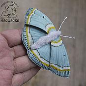 Украшения handmade. Livemaster - original item Brooch leather Butterfly Moth Gorgeous. Handmade.