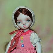 Куклы и игрушки ручной работы. Ярмарка Мастеров - ручная работа Неваляшка Дуся Бусинка, фарфоровая шарнирная кукла. Handmade.