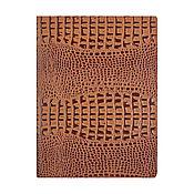 Канцелярские товары handmade. Livemaster - original item Document folder A4 Tawny Caiman. Handmade.