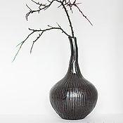 Для дома и интерьера ручной работы. Ярмарка Мастеров - ручная работа Ваза керамика Луковица чёрного тюльпана. Handmade.