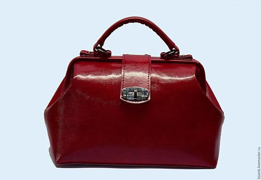Женские сумки ручной работы. Ярмарка Мастеров - ручная работа. Купить Саквояж Алые паруса. Handmade. Ярко-красный, саквояж