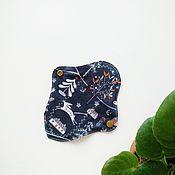 Белье ручной работы. Ярмарка Мастеров - ручная работа Ежедневные прокладки 17 см  на фланели тканевые женские. Handmade.