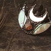 Necklace handmade. Livemaster - original item Lunnitsa double month. Handmade.