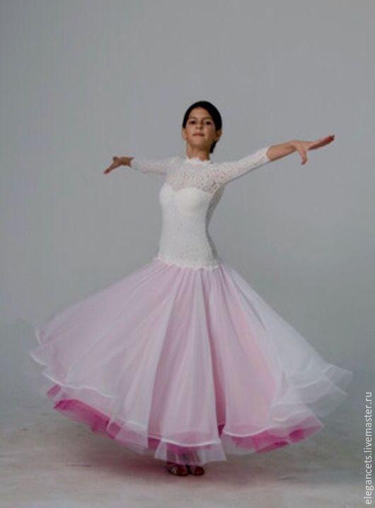 Танцевальные костюмы ручной работы. Ярмарка Мастеров - ручная работа. Купить Платье для бальных танцев Tender Rose, стандарт. Handmade.