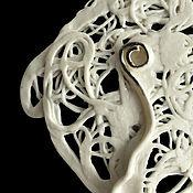 "Украшения handmade. Livemaster - original item Porcelain brooch from the series ""Teneta. Handmade."