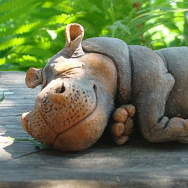 Для дома и интерьера ручной работы. Ярмарка Мастеров - ручная работа Бегемотик спит. Handmade.