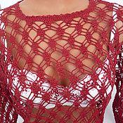 Одежда ручной работы. Ярмарка Мастеров - ручная работа Туника Вишневый лён. Handmade.