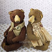 Куклы и игрушки ручной работы. Ярмарка Мастеров - ручная работа Uma + Udo мишки-тедди Ума и Удо. Коллекционный авторский медведь. Handmade.