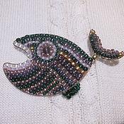 """Украшения ручной работы. Ярмарка Мастеров - ручная работа Брошь """"чудо-юдо рыба-кит"""". Handmade."""