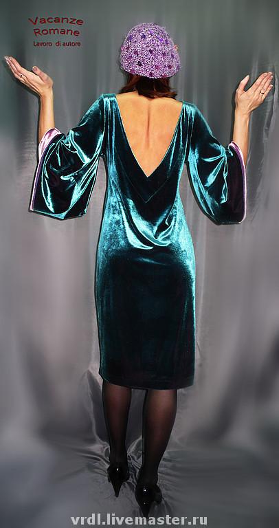 Платья ручной работы. Ярмарка Мастеров - ручная работа. Купить VACANZE ROMANE-536. Handmade. Бархатное платье