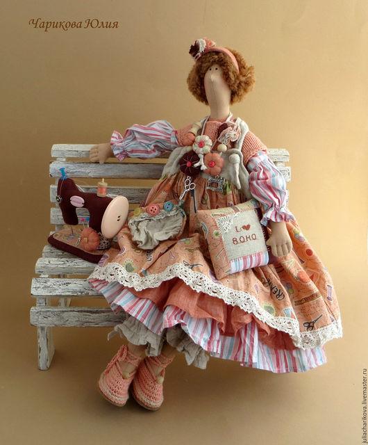 Куклы Тильды ручной работы. Ярмарка Мастеров - ручная работа. Купить Меланья, швейная бохиня. Handmade. Кремовый, хлопок американский