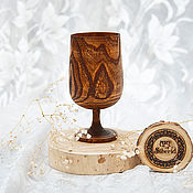 Посуда handmade. Livemaster - original item Wooden wine glass from Siberian elm G5. Handmade.