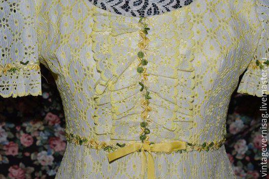 Одежда. Ярмарка Мастеров - ручная работа. Купить Платье романтическое, шитье. Handmade. Лимонный, цветочный, платье в пол, длинное платье
