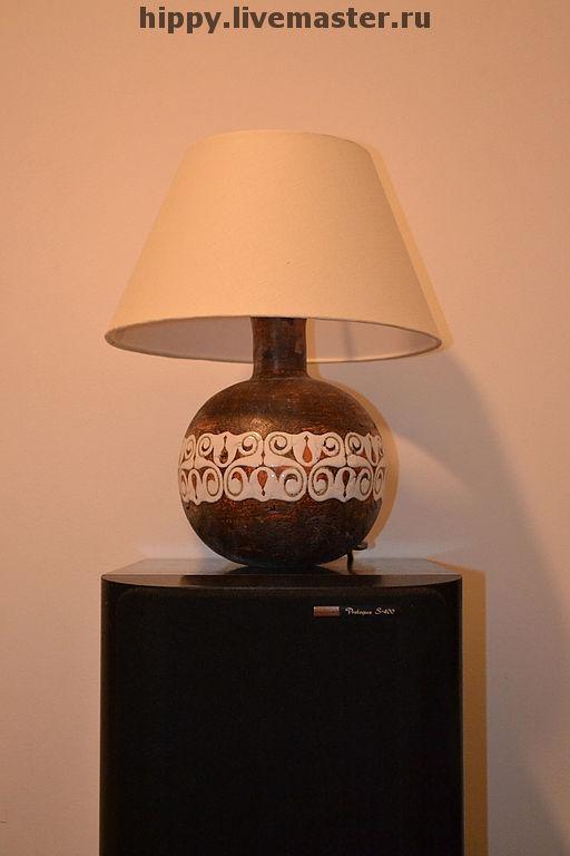 """Освещение ручной работы. Ярмарка Мастеров - ручная работа. Купить Настольная лампа""""Кельтский орнамент"""". Handmade. Настольная лампа, дизайн, Керамика"""