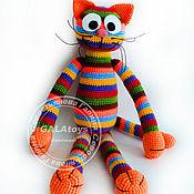 Куклы и игрушки handmade. Livemaster - original item Cat rainbow (70 cm). Knitted toy.. Handmade.