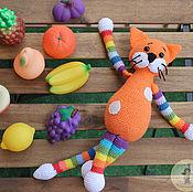 Мягкие игрушки ручной работы. Ярмарка Мастеров - ручная работа Игрушка кот большой. Handmade.