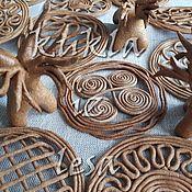 Русский стиль ручной работы. Ярмарка Мастеров - ручная работа Тетерки, козули, витое печенье, 8 см. Handmade.
