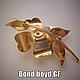 """Винтажные украшения. Заказать """"Bond boyd"""" Брошь Желтый цветок. Позолота Эмали. Канада 1960-е. Винтажная шкатулка (vintagebox). Ярмарка Мастеров."""