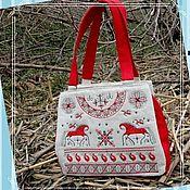 handmade. Livemaster - original item Bag with three compartments