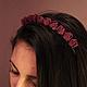 Диадемы, обручи ручной работы. Ободок для волос с цветами из натуральной кожи. Floscorio. Ярмарка Мастеров. Ручная авторская работа