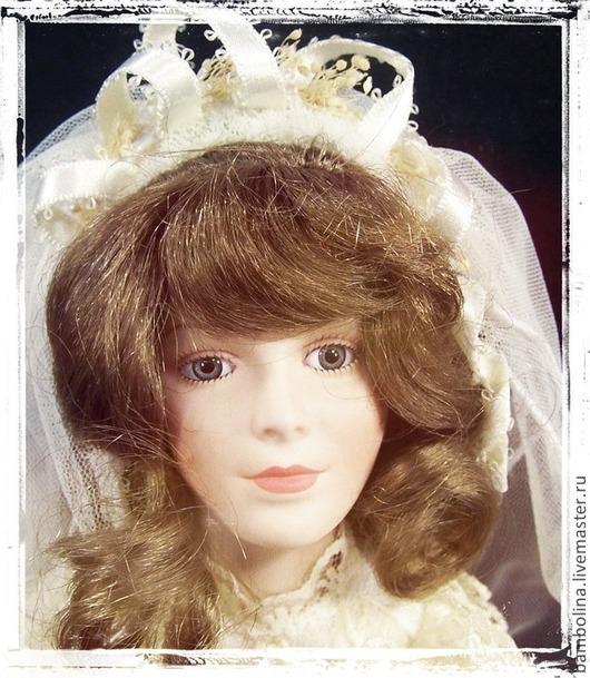 """Винтажные куклы и игрушки. Ярмарка Мастеров - ручная работа. Купить Коллекционная фарфоровая кукла-невеста """"Свадебное платье ее бабушки"""". Handmade."""