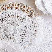 Для дома и интерьера handmade. Livemaster - original item Round napkin openwork crocheted. Handmade.