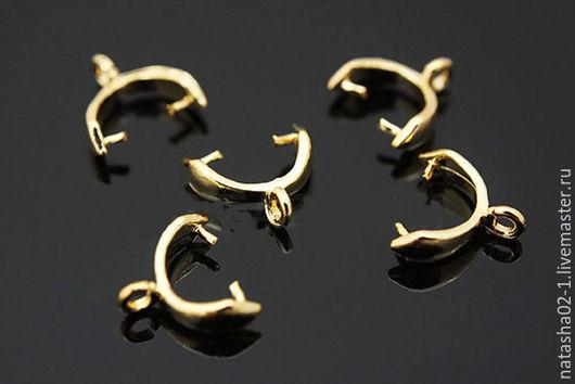 Для украшений ручной работы. Ярмарка Мастеров - ручная работа. Купить Бейл зажимной Gold plated Южная Корея. Handmade.
