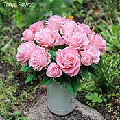 Цветы и флористика ручной работы. Ярмарка Мастеров - ручная работа Букет роз ручной работы. Handmade.