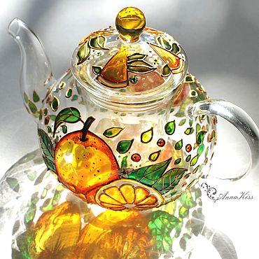 """Посуда ручной работы. Ярмарка Мастеров - ручная работа Чайники: Заварочный чайник """"Сладкие апельсины"""". Handmade."""
